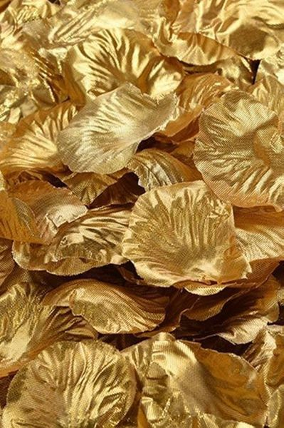 Silk Rose Petals - Metallic Gold - Bag of 300 pcs