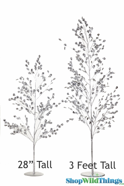 "COMING SOON! Tree ""Beaumont"" - 36"" Bright Metallic Silver & Crystal Diamonds"