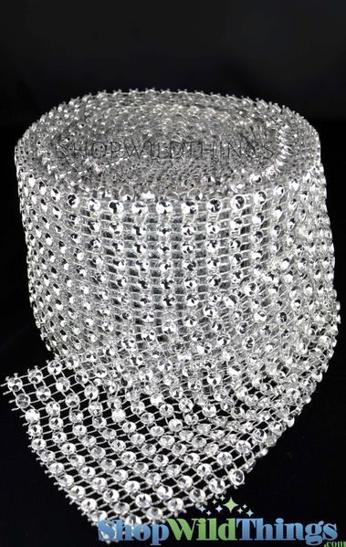 "Diamond Wrap Roll, Silver, Extra Large Diamonds 4"" Wide x 30' Long"
