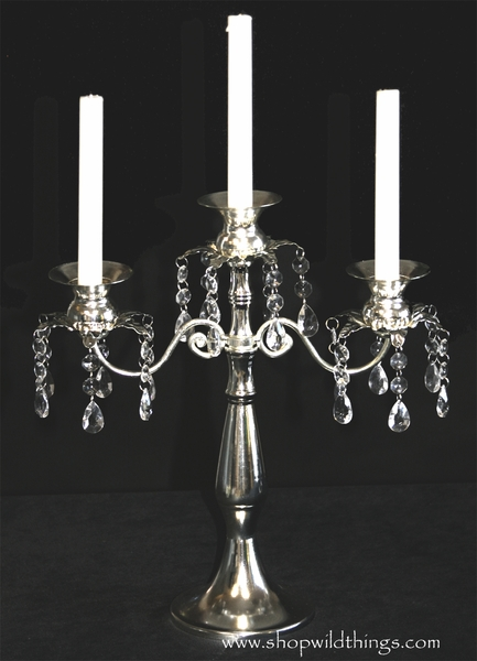 "COMING SOON! Silver Iron Candelabra ""Dorothea"" 14"" - Triple Tapers or Votives"
