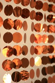 Spangles Beaded Curtain - Metallic Brown - 3 ft x 6 ft