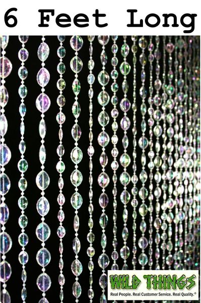 COMING SOON! Sparkles Beaded Curtain - Crystal Iridescent - 3 ft x 6 ft