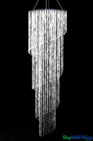 Chandelier Aphrodite Spiral Swirl - Crystal Iridescent - 7.8' Long