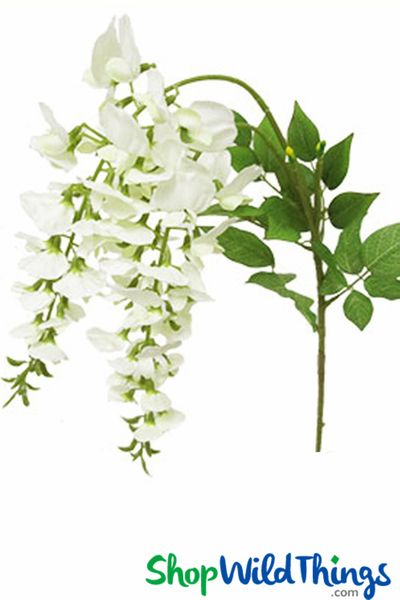 "Coming Soon - Spray - Wisteria 44"" - White Flowers - Perfect for Draping!"