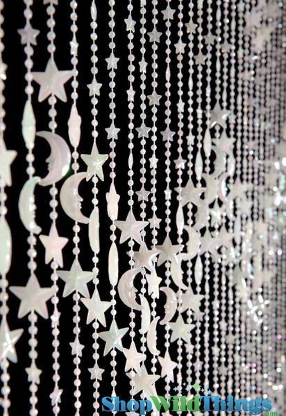 COMING SOON! Stars & Moons Beaded Curtain - Glow Dark - 3 ft x 6 ft
