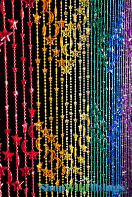 Rainbow Stars Amp Moons Party Decor Curtain Shopwildthings Com