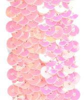 COMING SOON! Stretchable Sequin Trim -  Iridescent Pink - 30 Feet