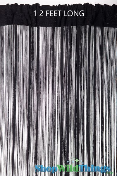 COMING SOON! String Curtain Black 3 ft x 12 ft - Rayon
