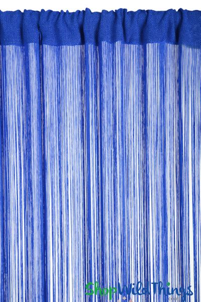 "String Curtain Royal Blue 3FTx 9FT - Polyester & Cotton ""Nassau"""