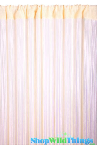 String Curtain Creamy Ivory 3 ft x 7.3 ft - Rayon