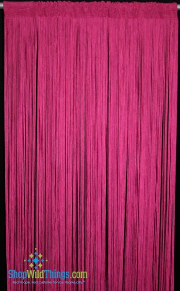 String Curtain Hot Pink 3 ft x 7.5 ft - Rayon
