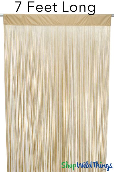 """COMING SOON! String Curtain Golden Blonde 3 FT x 7.3 FT (88"""") Polyester & Cotton """"Nassau"""""""