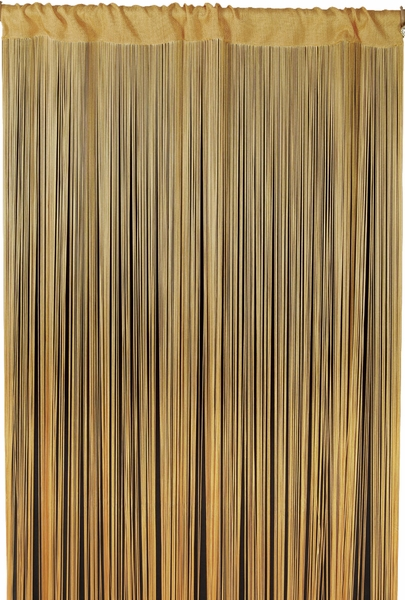 "Coming Soon - String Curtain Honey Gold  3' x 68 1/2"" - Polyester & Cotton ""Nassau"""
