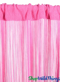 "String Curtain Pink Rose 36"" x 88"" - Rayon"