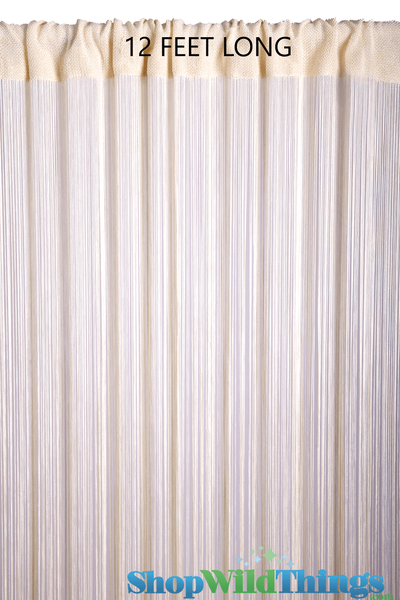 COMING SOON! String Curtain Ivory Pearl 3 ft x 12 ft - Rayon