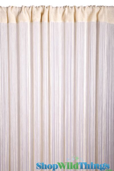 COMING SOON! String Curtain Ivory Pearl 3 ft x 7.3 ft - Rayon