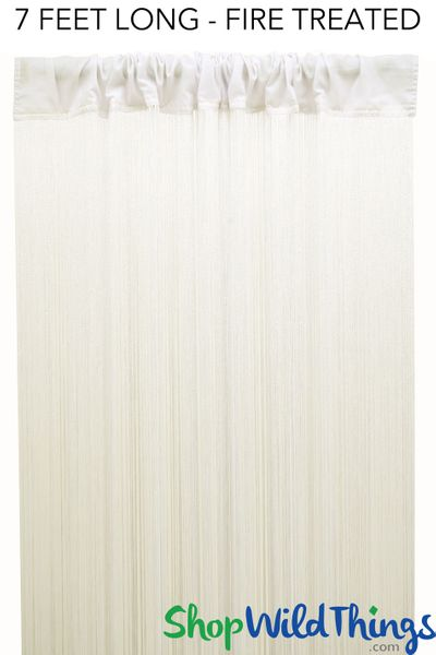 "COMING SOON! String Curtain Off White 3ft x 7ft  - Fire Treated - Polyester & Cotton ""Nassau"""