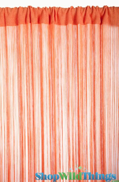 COMING SOON String Curtain Orange 3 ft x 7.3 ft - Rayon