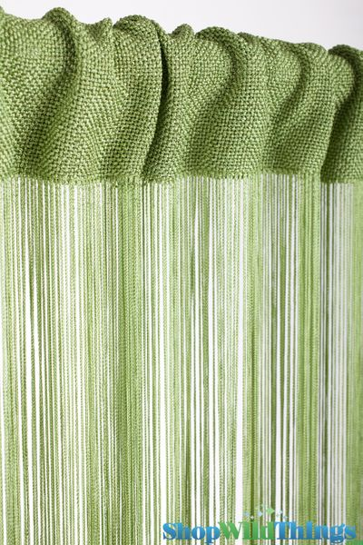 COMING SOON! String Curtain Safari Green 3 ft x 7.3 ft - Rayon