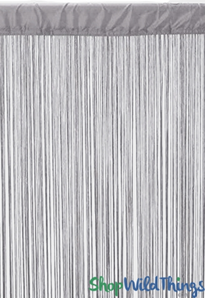 Free Shipping Multi Color Door Window Panels String: Silky Smooth Silver Gray String Curtain Panel