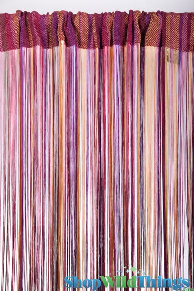 "Free Shipping Multi Color Door Window Panels String: Multi-Color Fringe String Curtain 36"" X 88"""