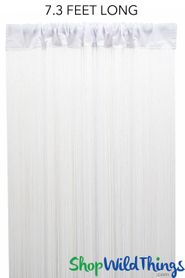 "String Curtain White 3 ft x 7.3 ft (88"") - Polyester & Cotton ""Nassau"""