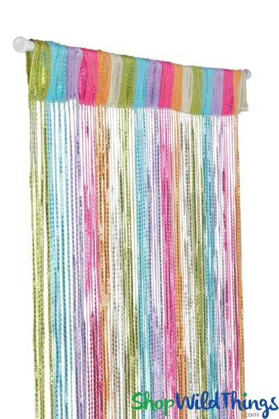 COMING SOON! String Curtains - Sparkle Pastels w/Tension Rod