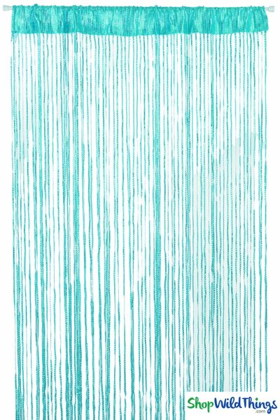 Coming Soon - String Curtains - Sparkle Turquoise w/Tension Rod