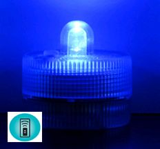 Acolyte Sumix 1 - Blue - Set of 10 - Submersible Remote Control Compatible LED Light