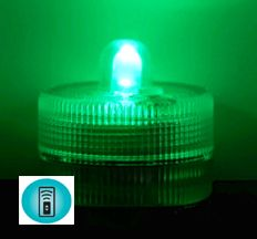 SALE ! Acolyte Sumix 1 - Green - Set of 10 - Submersible Remote Control Compatible LED Light