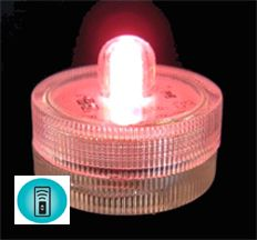 Acolyte Sumix 1 -Pink - Set of 10 - Submersible Remote Control Compatible LED Light