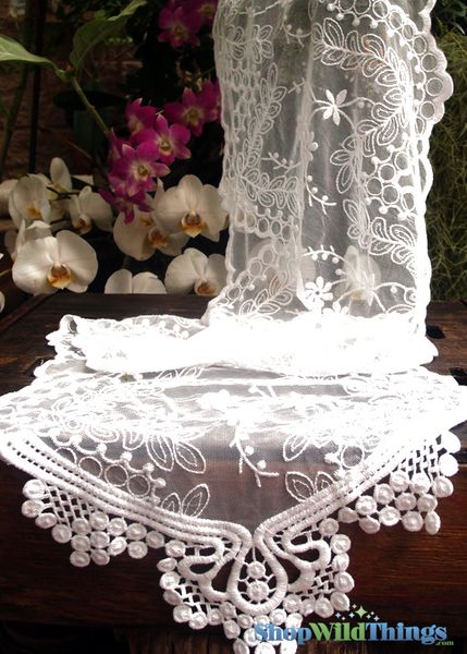 "Table Runner - Lace - White - 12"" x 74"""