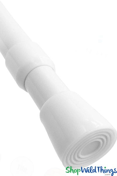 """Spring Tension Rod for Fabric Top Curtains - 28"""" to 48"""" - White"""