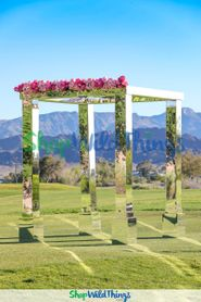 The Making of a Mirror Mandap, a Jaw-Dropping Gazebo or a Wonderful Wedding Arch