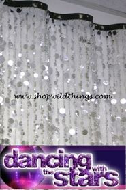 THE WAVE 8 ft Curtain - Silver Bubbles on Dancing with the Stars