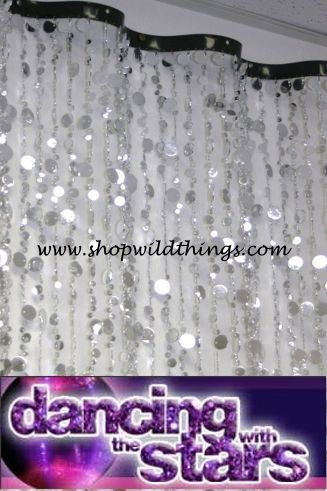 COMING SOON! THE WAVE 8 ft Curtain - Silver Bubbles on Dancing with the Stars