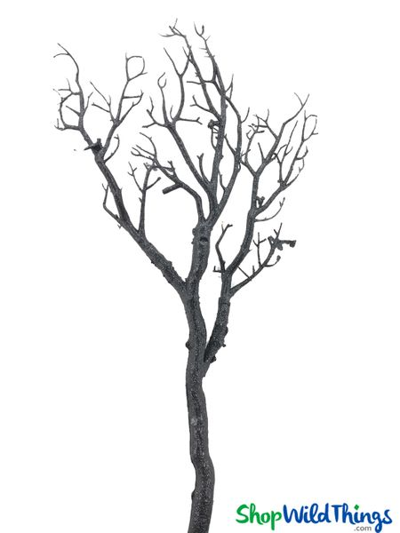 "Tree Branch, Black Glitter, Bendable - Manzanita 28"" to 31"" Tall"