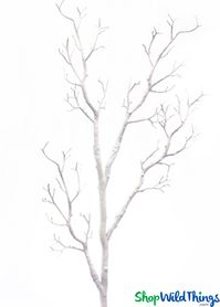 "Tree Branch, White, Bendable - Manzanita 31""  Tall"