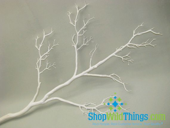 Coming Soon!  Tree Branch, White, Bendable  - Manzanita 5 Feet Tall