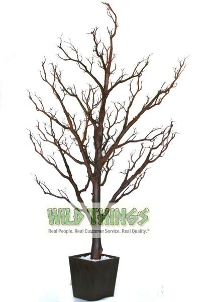 Coming Soon!  Tree in Pot, 6 Feet Tall - Natural Brown (Bendable!)