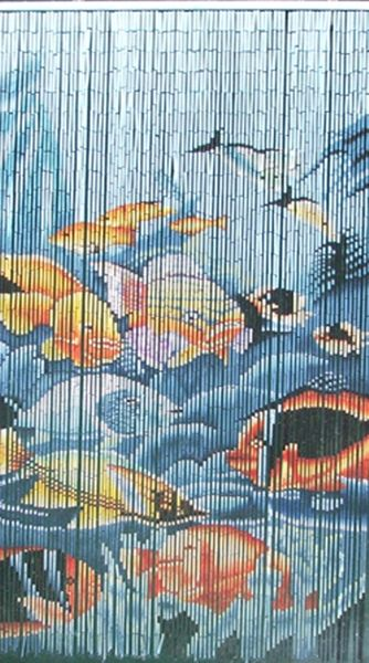 COMING SOON! Tropical Fish Serenity Bamboo Painted Beaded Curtain