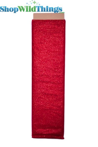 "Tulle Bolt w/Glitter, Red, 54""x10 yds"