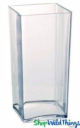 COMING SOON! Vase - Acrylic Square / Rectangle Clear 4in x 4in x 10in