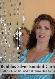 VIDEO: 12' Bubbles Silver Beaded Curtains Demo