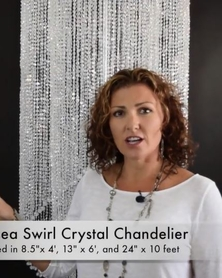 VIDEO: Chelsea Chandeliers Crystal Swirls 3 Sizes