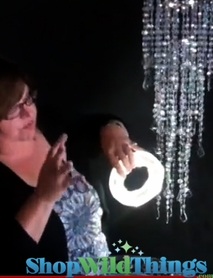 VIDEO: Downlighting - White LED Light Rings (With Open Center)  for Vases & Chandeliers