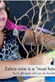 VIDEO: How to Decorate a Fun Rainbow Manzanita Tree Centerpiece
