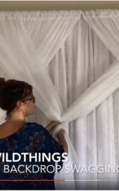VIDEO:  How To Swag Fabric on Pipe & Drape