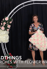 Video: How to use Flower Wall Panels on Flower Arch Stands