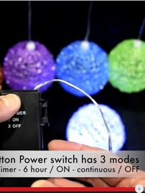 VIDEO: LED Lighted Sparkle Balls! Battery, Timer & Waterproof!